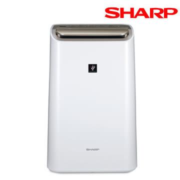 SHARP 夏普 12L 自動除菌離子空氣清淨除濕機 DW-H12FT-W