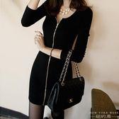 洋裝 性感連身裙低胸包臀裙韓版中長款