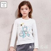 中大尺碼女童長袖t恤款薄款上衣體恤韓版兒童中大童打底衫 js9534『miss洛羽』