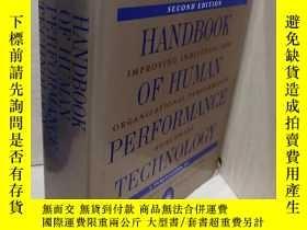 二手書博民逛書店Handbook罕見Of Human Performance T