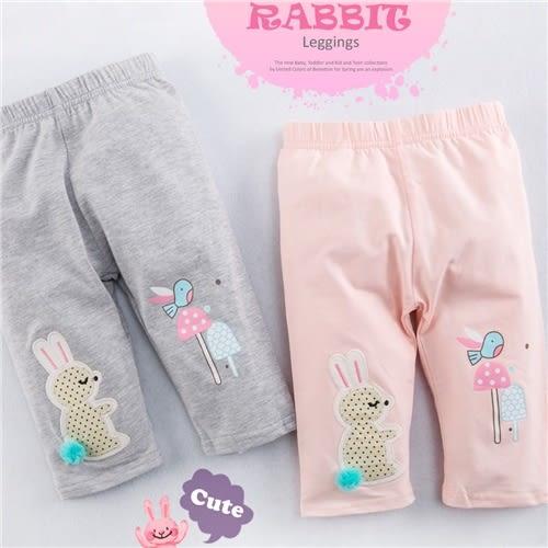 雪紡球球拼布兔彩菇薄棉內搭褲(250612)★水娃娃時尚童裝★