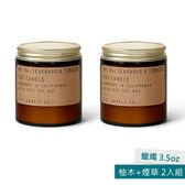 美國P.F. Candles CO.蠟燭3.5oz  2入組 柚木+煙草