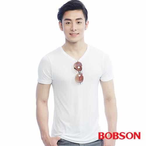 BOBSON  男款膠原蛋白T恤兩件組-白色