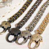 9MM鏈條包包鏈肩包帶子斜挎包帶金屬包鏈包帶鏈條配梅花扣金屬鏈 交換禮物