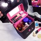 大容量化妝包 可愛雙層手提化妝箱大號護膚化妝品多層收納盒小方包 降價兩天