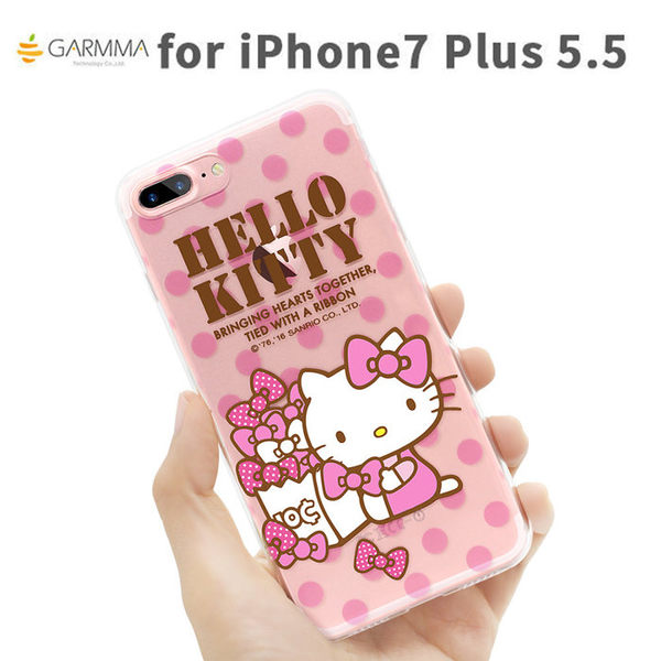 【漢博】GARMMA iPhone 7 Plus Hello Kitty 透明保護軟殼 - 淘氣款