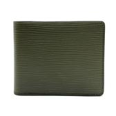 【台中米蘭站】全新品 LOUIS VUITTON EPI 水波紋牛皮對開短夾(M61827-綠)