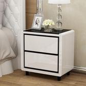 床頭櫃簡約現代收納櫃儲物櫃臥室小櫃子迷你床邊櫃白色簡易T