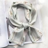 買2送1 領巾絲巾小長條韓國小絲巾女百搭裝飾發帶絲帶【倪醬小舖】