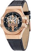 ★MASERATI WATCH★-瑪莎拉蒂手錶-經典金色機械款-R8821108002-錶現精品公司-原廠正貨-鏡面保固一年