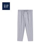Gap女裝Jolin明星同款柔軟雙彈中腰抽繩褲裝491351-灰色