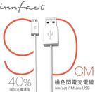 【3C共和國】白色款 橘色閃電 Micro USB 快速充電線 超長版 90cm 小米 HTC 三星 原廠 傳輸線