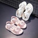 女童涼鞋新款小女孩時尚亮片公主鞋夏季軟底沙灘鞋兒童涼鞋女 魔法鞋櫃