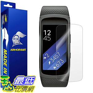 [美國直購] ArmorSuit MilitaryShield B01H4O4N2A 保護貼 Samsung Gear Fit2 Screen Protector [Full Coverage][2 Pack]