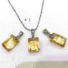 『晶鑽水晶』天然黃水晶墜子~招財秀氣款!切角度亮度高~情人節禮物*附鍊子