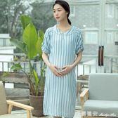 純棉孕婦月子服裙外出哺乳喂奶洋裝家居哺乳喂奶睡裙 瑪麗蓮安