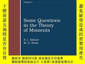 二手書博民逛書店Some罕見Questions In The Theory Of MomentsY255562 N. I. A