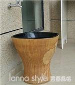 中歐式復古陽台衛生間家用拖把池拖布盆墩布池落地式室外大號水槽 LannaS YTL