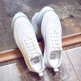 秋冬百搭白色板鞋男正韓潮流運動休閒鞋子內增高厚底小白鞋潮男鞋【快速出貨】