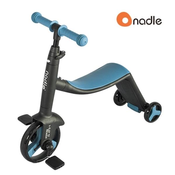 Nadle 三合一多功能三輪滑步車/滑板車/三輪車 -藍