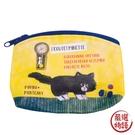 【日本製】【ECOUTE!】貓咪系列 迷你化妝包 萬用包 黑貓圖案 SD-3935 - ecoute!