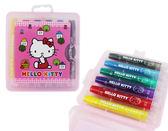 ~卡漫城~Hello Kitty 旋轉蠟筆6 色㊣版凱蒂貓胖胖筆記號筆重點筆好書寫螢光筆彩