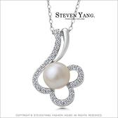 項鍊 正白K飾「璀璨之星」八心八箭 珍珠 名媛淑女 聖誕節禮物