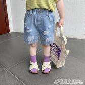 男童牛仔短褲外穿潮寶寶夏裝中褲洋氣兒童褲子夏季薄款韓版五分褲 格蘭小舖