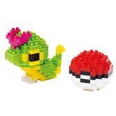 《 Nano Block 迷你積木 》【 神奇寶貝 系列 】 NBPM -010 綠毛蟲 & 寶貝球 ╭★ JOYBUS玩具百貨