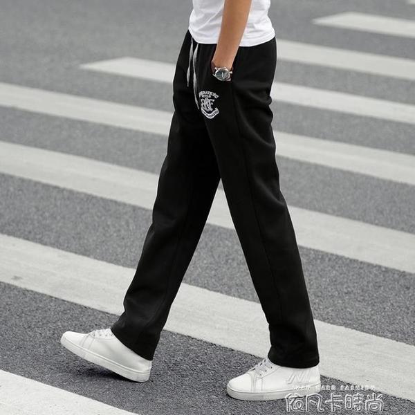 春夏季運動褲男長褲青少年寬鬆直筒潮流大碼學生男士休閒褲長衛褲 依凡卡時尚