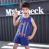 童裝男童套裝2018新款兒童夏裝運動中大童潮 JA1425『時尚玩家』