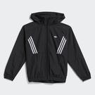 Adidas Originals PB WORKSHOP 男裝 外套 可收納式連帽 防風 拉鍊口袋 格紋 黑【運動世界】GL9906