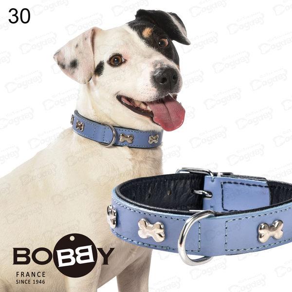 法國《BOBBY》多彩風骨項圈[50] 繽紛色彩 真皮項圈 標準貴賓/柴犬/米克斯