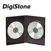 ◆全館免運費◆DigiStone 兩片裝DVD光碟片精裝優質軟盒/黑色 100PCS