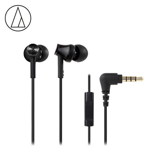 【鐵三角 audio-technica】ATH-CK350iS 智慧型手機用耳塞式耳機 黑色