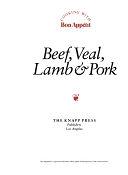 二手書博民逛書店 《Beef, Veal, Lamb & Pork》 R2Y ISBN:0895351382