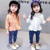 0嬰兒女童套裝童裝2小孩衣服女寶寶洋氣1秋季3歲韓版潮女童秋兩件套 LR12033【優品良鋪】
