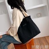 帆布包女大包休閒時尚布包大容量單肩手提子母包學院風學生書包 至簡元素