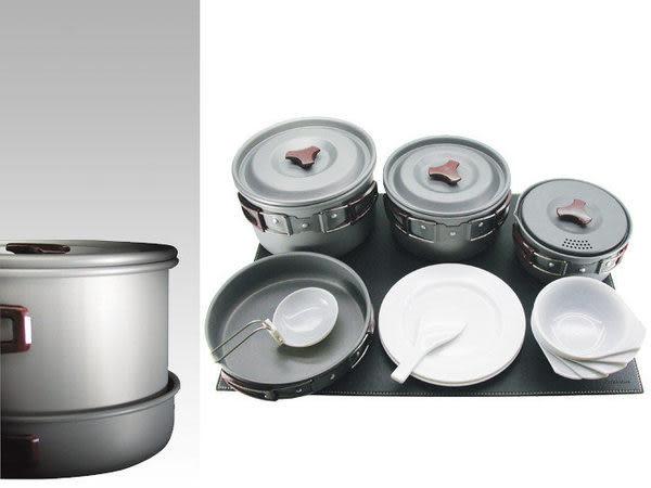 【山水網路商城】RHINO犀牛牌K-5 五人黑鋁合金套鍋組 5人鍋 鋁合金套鍋組