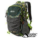【PolarStar】透氣網架背包25L『綠迷彩』露營.戶外.旅遊.自助旅行.多隔間.登山背包.後背包 P17807
