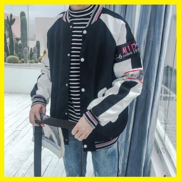 冬季韓版加絨外套男學生寬鬆潮流港風bf情侶裝夾克棒球服 森活雜貨