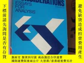 二手書博民逛書店Rhetorical罕見considerations:Essay