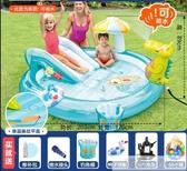兒童游泳池嬰兒寶寶家庭大號充氣戲水池沙池釣魚噴水波波池  中秋佳節 YTL