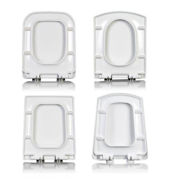 馬桶蓋 加厚脲醛方形馬桶蓋 通用U方型抽水坐便蓋子老式家用廁所板圈配件