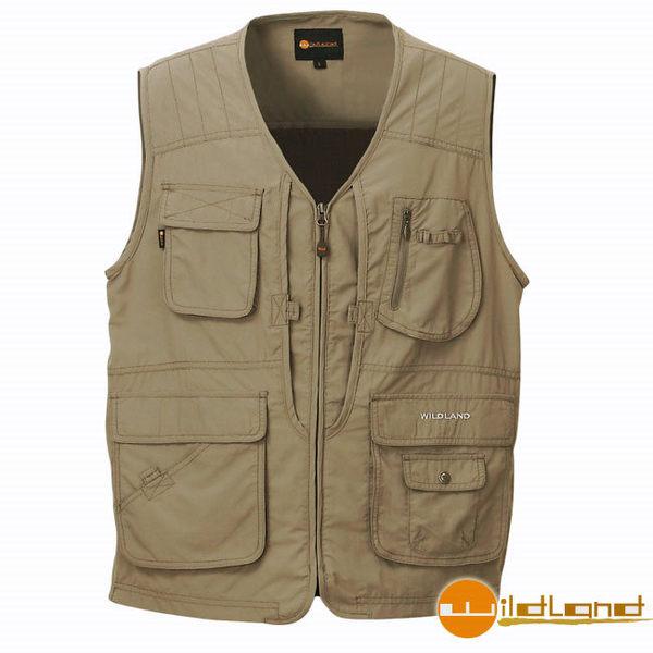 丹大戶外【Wildland】荒野 中性透氣抗UV多口袋背心 W1702-92 中灰色