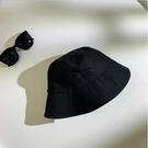 黑色漁夫帽女遮陽帽韓版潮百搭日系水桶帽夏季防曬太陽帽子女遮臉一米陽光