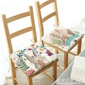 四季通用棉麻透氣坐墊辦公室椅墊學生凳子墊子綁帶防滑墊  遇見生活