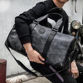 手提旅行包迷彩健身包短途行李包單肩斜背包【時尚大衣櫥】