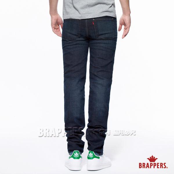 BRAPPERS 男款 HM中腰系列-中腰彈性直筒褲-水洗藍