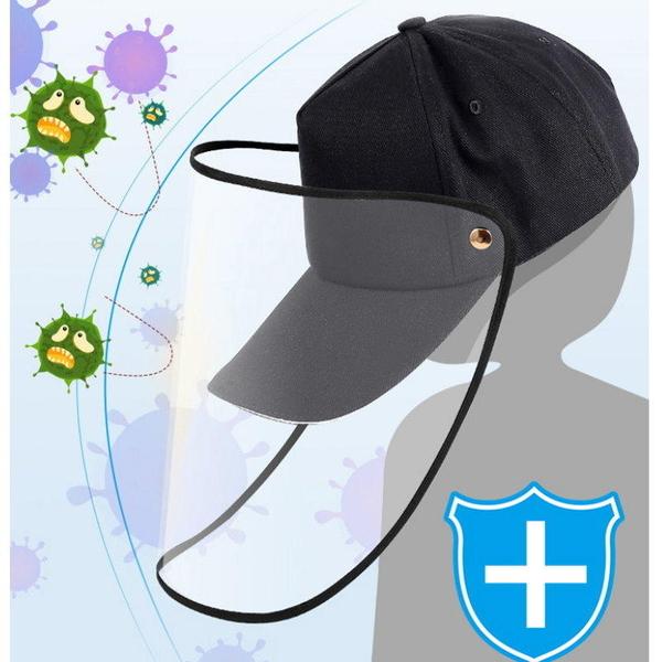 【DA315】防飛沫棒球帽 護目防護帽 可拆式防疫帽 鴨舌帽 遮臉面罩 棒球帽子 遮陽帽 EZGO商城